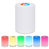 LEDs Touch Lamp RGB Colorful Night Light Desk Lamp USB Powered Built-in 2000mAh High Capacity Rechargeable Batterys for Home Bedroom Camping Gift Present Portable