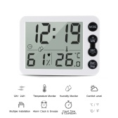 Digital Indoor Thermometer Hygrometer with Clock LCD Display ℃/ ℉