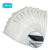 10Pcs Disposable Mouth Mask Replace Inner Pads Filter, Breathable Anti Dust Face Cover Mask(Non-medical)