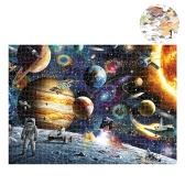 1000 Piece Puzzles Space Tourist Drawing for Adults Kids Educational Jigsaw Puzzle Family Game Home Decoration