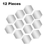 12 Stück abnehmbare Acrylspiegel Einstellung Wandaufkleber