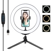 PULUZ 10.2 Inches 80 LEDs Circle Round Light Selfie Lamp