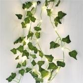 Guirlande de lierre artificielle en rotin vert feuille plantes fausses feuilles