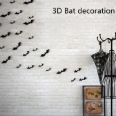 DIY Halloween Wall Stickers 3D Bat Wall Decals Window Decorations Removable Scary Spooky Bats Stickers for Halloween Party Halloween Decorations