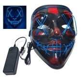 Glow Mask Modes Adjustable EL Wire Light Up Skull Luminous Mask Costume Party for Halloween