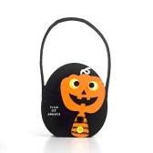 Hot Halloween Candy Bag Candy Fabric Felt Storage Basket Pumpkin Cat Gift Basket Kids Trick or Treat Handbag Decor Prop