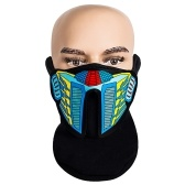 Maschera di Halloween Costume Party Cosplay Prank Face Cover LED Rave Mask
