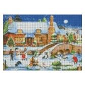 Navidad Kit de pintura de diamante 5D DIY 12 * 16 pulgadas / 30 * 40 cm