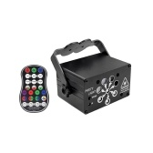 Disco Light Portable 8 Lens LED Stage Projector Sound Activated DJ Disco Lights