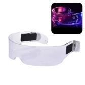LED Luminous Glasses Light Up Glasses Electronic Visor Glasses