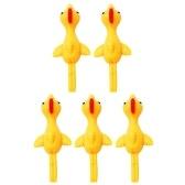 5 Pack Slingshot Chicken Rubber Chicken Toy