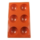 Kitchen Baking Semicircle Silica Gel Pudding Mould