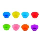 24 paquetes de tazas de silicona para hornear, moldes para pasteles reutilizables, tazas antiadherentes, juego de moldes para pasteles