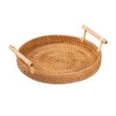Cesta de pan redonda de ratán (S)