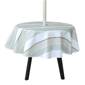 4.92FT Spillproof Tablecloth with Zip Umbrella Hole