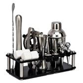 CG1215 16PCS 304 Juego de coctelera de acero inoxidable Juego de herramientas para hacer bebidas Regalo de cumpleaños