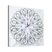 Reloj de pintura de diamante 5D DIY con kit de movimiento de reloj bordado de diamantes en forma especial decoración del hogar