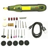 Kit de taladro eléctrico de herramienta rotativa inalámbrica de 35 piezas