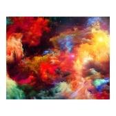 Pintura al óleo de bricolaje con patrón de paisaje de campo de 16 x 20 pulgadas sobre lienzo