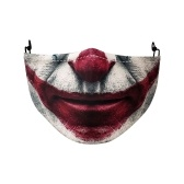 H-alloween Scary Printing Pattern Protective Face Cover Universal Anti-Dust Windproof Washable Reusable Mouth Cover