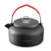Tetera al aire libre de la comida campestre de la aguamarina de la comida campestre Pote de aluminio del pote 0.8L del café