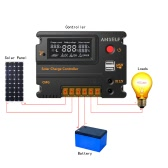 Anself 20A 12V 24V LCD Solar Charge Controller Panel Batterie Regler Auto Switch-Überladung Schutz Temperaturkompensation