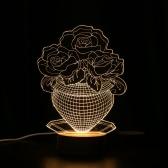 Einzigartige optische Täuschung 3D LED Desk Lamp USB DC 5V Nachtlicht mit Holz Basis Lighting Effects schönes Geschenk Dekoration