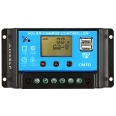 Anself 20A 12V / 24V LCD Kontroler ładowania słonecznego z bieżącym wyświetlaczem Funkcja Auto Regulator dla baterii słonecznych Ochraniacze na akumulator