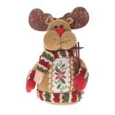 Festnight Attractive Belle Christmas Toy Doll Delicate Adorable Père Noël Reindeer bonhomme de neige Décoration de Noël Cloth Doll
