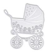 Métal Poussette bébé en acier au carbone Modèle gaufrage Cutting Dies Stencil Scrapbooking Decorative Craft carte papier de bricolage