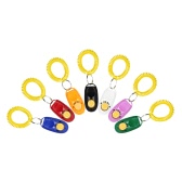 7 Pakiet Pet Dog Training Clicker Clicker Wrist Trainer Aid Tool for Pies z paskiem na nadgarstek