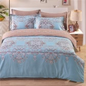 Cozy Bedding Set Well-made Polyester Reversible Duvet Cover Set Soft Duvet Cover & Pillowcase Sets