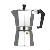 Second Hand 6-Cup Aluminum Espresso Percolator Coffee Stovetop Maker Mocha Pot for Use on Gas or Electric Stove