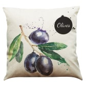 Simple Modern High-quality Watermelon Olives Grapes Fig Guava Lemon Banana Pastoral Fresh Fruit Style Colorful Bright Printed Linen Square Throw Pillow Covers Pillow Cases Back Cushion Gift Decorative for Home Office Car Seat Sofa