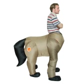 Adult Inflatable Costume Horse Inflatable Fancy Dress Costume Rider Animal Costume for Festival Party Gala Parade Halloween Carnival Party Cosplay Prop