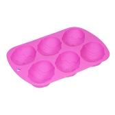 6 tasses Moule de gâteau de silicone Moules en forme de moule en forme de moule en moulage en poudre Formule en moulage en poudre Formule en mousse