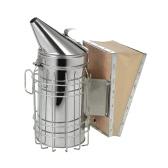 Herramienta para apicultores Nuevo fumador de colmena de abejas de acero inoxidable con protector contra el calor Protección Equipo para apicultura