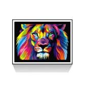 Luxus-Diamant-Malerei des Löwen glänzend und Original