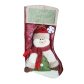 Merry Christmas Hanging Stockings Gift Candy Bag Christmas Decoartions Ornaments--Snowman