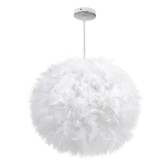 Bedroom Child Bedroom Decorates the Exhibition Hall Personality Style Simple Decoration Feather Ball Lamp Droplight
