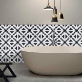 196 * 8 zoll PVC Wasserdicht selbstklebende 3D Schwarz Weiß Fliese Tapete Rolle Wand Boden Kontakt Papier Aufkleber Abdeckung Aufkleber Wohnkultur