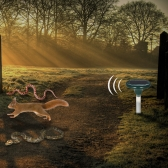 Solar Powered Ultrasonic Snakes Rodents Repeller with LED Light Outdoor Moles Voles Repellent Reptiles Repelling