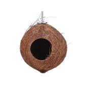 Bird House Nest Coco Hideaway Okoń z drabiną Akcesoria do klatek dla ptaków Swing Toy for Budgerigar Ara Parakeet Cockatoo