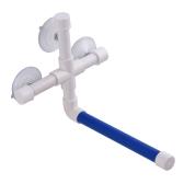 Oiseau douche baignoire perche pliante stand rack plateforme jouets pour petit moyen grand perroquet taille