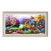 Алмазная живопись Каюта Рукоделие Rhinestone Вышивка Мозаика Рисунок DIY Home Decor Лучший подарок Хобби и ремесла Блестящая живопись