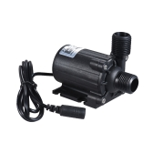 Ultra-quiet Compact Size Submersible Brushless Oil Water Pump Dual Outlets Max. Lift 3 Meters 800L/H DC 12V for Fish Tank Aquarium Fountain Circulating