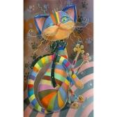 NAIYUE 8 * 12 cali / 20 * 30 cm DIY 5D Diament Malarstwo Kit Taniec Kot Rhinestone Mozaiki Haft Cross Stitch Craft Home Dekoracje Ścienne