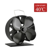 4-Blade Quiet Heat Powered Stove Fan Fireplace Fan Wood Burning Fan Eco-friendly for Efficient Heat Distribution