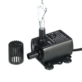 Decdeal Ultra-quiet Mini USB DC5V 4.8W 300L/H Lift 300cm Brushless Water Pump Waterproof Submersible Fountain with Flow Adjustment Function