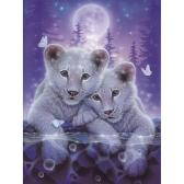 8 * 10 pouces / 20 * 25 cm bricolage 5D diamant peinture kit tigre résine strass mosaïque broderie point de croix artisanat maison mur décor